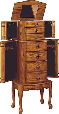 Powell® MDF Jewelry Armoire, Woodland Oak