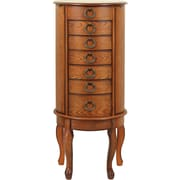 Powell® MDF Jewelry Armoire, Burnished Oak