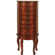 Powell® Solid Wood Contemporary Jewelry Armoire, Woodland Cherry