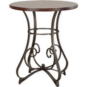 "Powell® 42"" Round Wood/Metal Hamilton Pub Table, Medium Cherry"