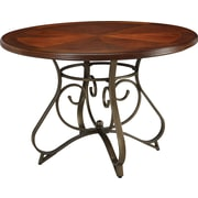"Powell® 29 1/2"" Round Wood/Metal Hamilton Dining Table, Medium Cherry"