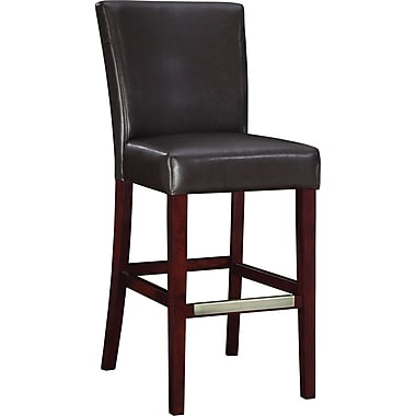 Powell® Bonded Leather Bar Stool, Brown