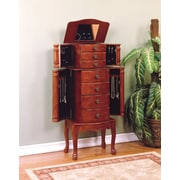Powell® Classic Cherry Veneer Jewelry Armoire, Cherry