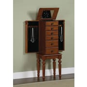 Powell® MDF Lightly Distressed Jewelry Armoire, Deep Cherry