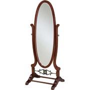 "Powell® 63"" x 25 1/4"" x 20"" Wood Cheval Mirror, Heirloom Cherry"