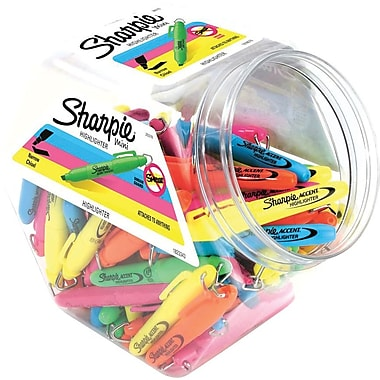 Sharpie® Mini Highlighter, Chisel Tip, Colored Ink, 72/pk (20376)