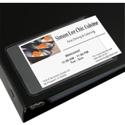C-Line® Self-Adhesive Business Card Holders, Side Load