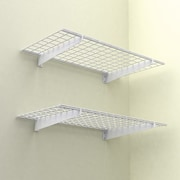 "Wall Shelf, 48""x24"", White, 2 Shelves/Pack"