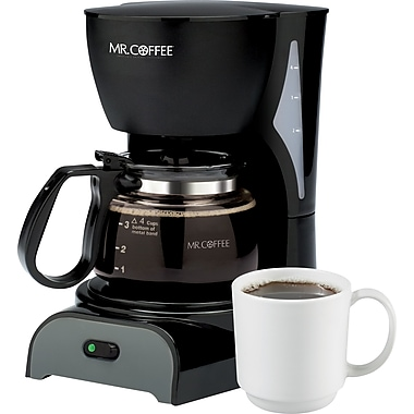 Mr. Coffee® 4-Cup Switch Coffee Maker, Black