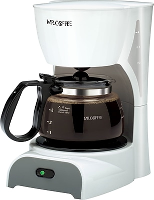 Mr Coffee White Coffee Maker : Mr. Coffee 4-Cup Switch Coffee Maker, White Staples