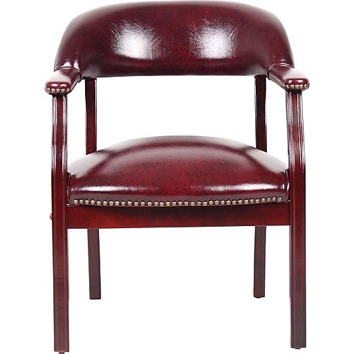 BOSS Captain's Guest Arm Chair, Burgundy