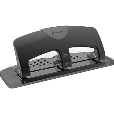 Swingline® SmartTouch™ Low-Force 3-Hole Punch, 20-Sheet Capacity