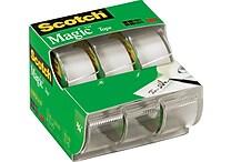 Scotch® Magic™ Tape, 3/4' x 300', Each w/Dispenser, 3/pack (3105)