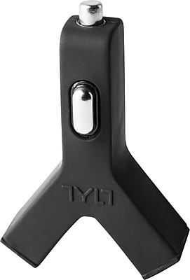 TYLT Y-Charge 2.1 Dual USB Car Charger, Black