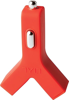 TYLT Y-Charge 2.1 Dual USB Car Charger, Red