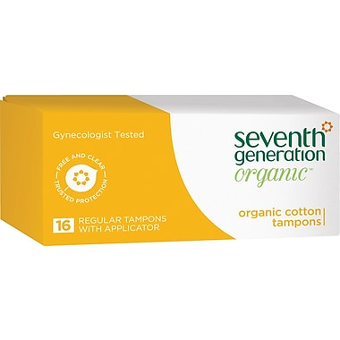 Seventh Generation Tampons, Regular Size, 16/Pack