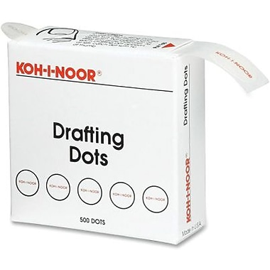 Chartpak® Self-Adhesive Repositionable Drafting Dots With Dispenser