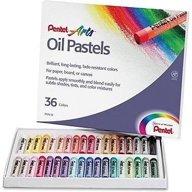 Pentel - Bâtonnet rond de pastel à l'huile, 36 couleurs