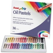 Pentel® Round Stick Oil Pastel, 36-Colour