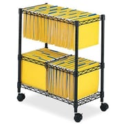 Safco® 2-Tier Mobile File Cart, Letter/Legal, Black