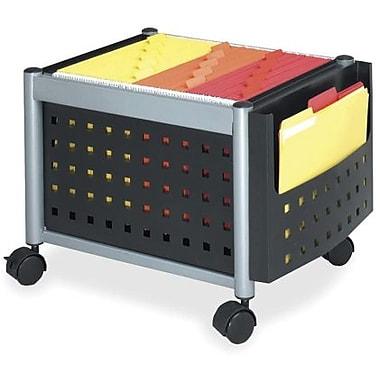 Safco® Mini Scoot Mobile File Cart, Black