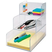 Sparco™ 3-Compartment Storage Organizer, Clear