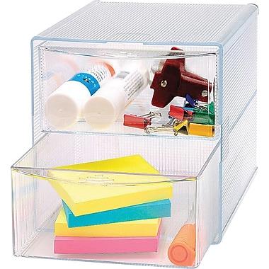 SparcoMC – Organisateur de rangement à 2 tiroirs, transparent