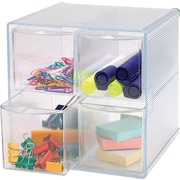 Sparco™ 4-Drawer Storage Organizer, Clear