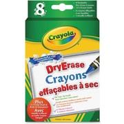 Crayola® Washable Dry-Erase Crayons, 8/Pack