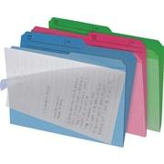 Find It® - Chemises de classement Clear View, format lettre, 8 1/2 po x 11 po, couleurs variées, paq./6
