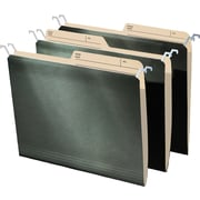 "Find It® Tab View Hanging File Folder, Letter Size, 8-1/2"" x 11"", Standard Green, 20/Pack"