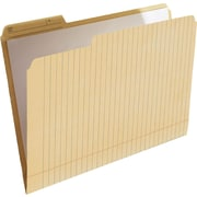 "Find It® File Folder Note Pad, Letter Size, 8-1/2"" x 11"", Manila, 12/Pack"