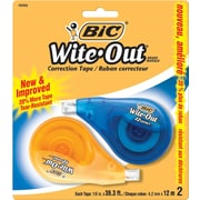 BIC Wite-out EZCorrect Correction Tape, 2/Pack