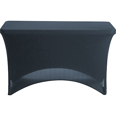Fabric Table Cover 4' Black