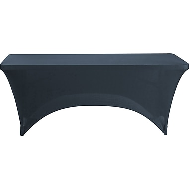 Iceberg Fabric Table Cover, Black