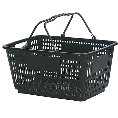 Wire Handle Hand Basket, Black, 30 Liter, 20/Pack