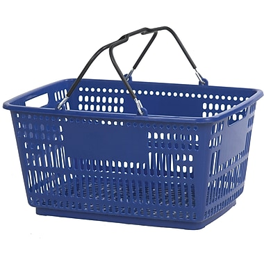 Wire Handle Hand Basket, Dark Blue, 30 Liter, 20/Pack