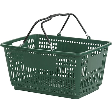Wire Handle Hand Basket, Dark Green, 30 Liter, 20/Pack