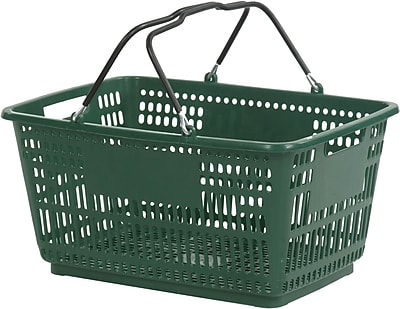 Wire Handle Hand Basket, Dark Green, 30 Liter, 20/Pack