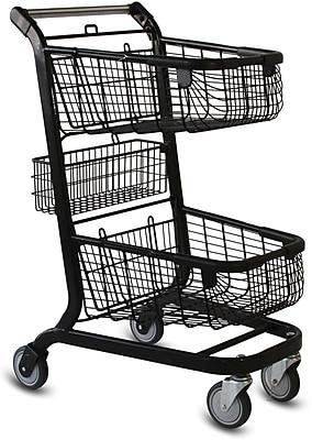 EXpress6000 Convenience Shopping Cart w/ Child Seat, Metallic Gray