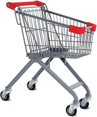 Kiddy Wire Shopping Cart, Metallic Gray