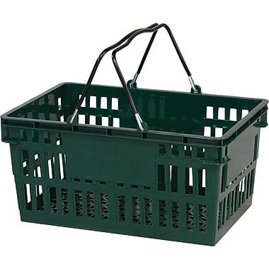 Wire Handle Hand Basket, 26 Liter, Dark Green 12/Pack