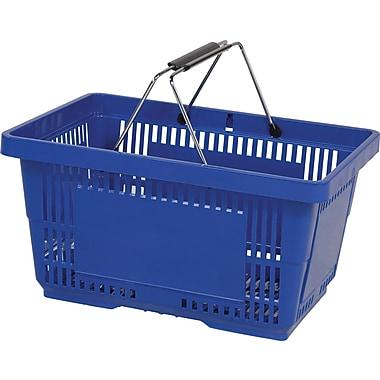 Wire Handle Hand Basket, Dark Blue, 28 Liter, 12/Pack
