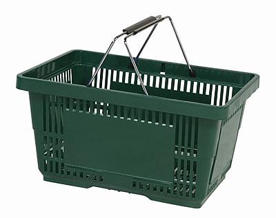 Wire Handle Hand Basket, Dark Green, 28 Liter, 12/Pack