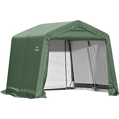ShelterLogic® Peak Style Shed Storage Shelter, Green, 10' x 8' x 8'