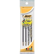BIC Fine Ballpoint Refill For BIC 4-Color Pen, 4/Pack, Assorted Colors