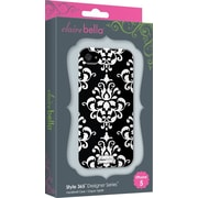 Elibrium 365 Case for iPhone4/4S, Black Damask