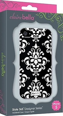 Elibrium 365 Cases for iPhone 5, Black Damask