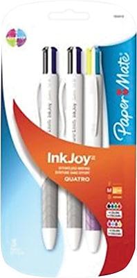 Assorted Standard Colours Papermate InkJoy Quatro 4-Colour 1.0 mm Medium Tip Retractable Ball Pen