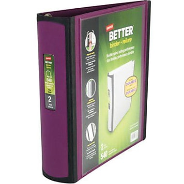 Staples - Reliure Better, pourpre, 2 po